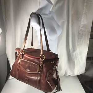 Dooney & Bourke Florentine brown leather satchel
